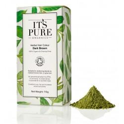 Οργανική Φυτική Βαφή Μαλλιών - Σκούρο Καστανό | Drark Brown Organic Herbal Hair Colour