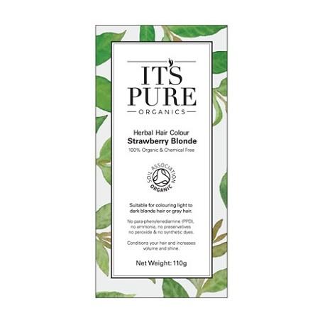 Οργανική φυτική βαφή μαλλιών - Ξανθό της φράουλας | Strawberry Blonde - Organic Herbal hair Colour