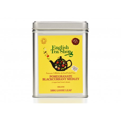 Μεταλλικό Κουτί με Ρόδι & Μαύρο Φραγκοστάφυλο   Org. Pomegranate Blackcurrant Medley