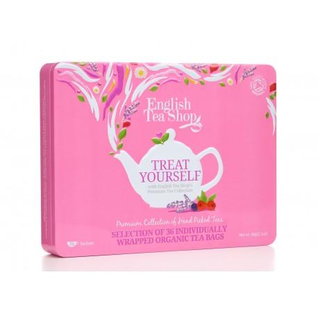 Συλλογή με 36τεμ. Τσαγιών | Org. Premium Collection Pink Tin - 36
