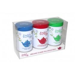 Δώρο 3ων Κλασικών Γεύσεων με Χύμα Τσάι σε Μεταλλικό Κουτί 75γρ | Organic Classic Mini Tins - 75g Loose Tea