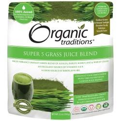 Οργανικός Χύμος 5 Πρασίνων | Super 5 Grass Juice Organic | 150gr