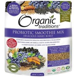 Οργανικός Συνδυασμός Σμούθι Προβιοτικών με Μίξη Μούρων |Organic Probiotic Smoothie Mix, Berry Burst | 200gr