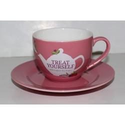 Φλυτζάνι τσαγιού με Πιατάκι Pοζ | Cup & Suacer Pink