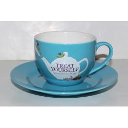 Φλυτζάνι τσαγιού με Πιατάκι Μπλε | Cup & Suacer Blue