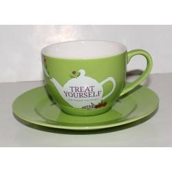 Φλυτζάνι τσαγιού με Πιατάκι Πράσινο | Cup & Suacer Green