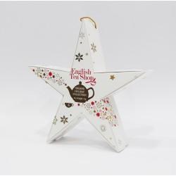 Συλλογή Χριστουγέννων | Holiday Collection organic Red Silver Star | 6 πυραμίδες.