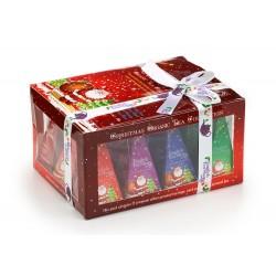 Συλλογή Χριστουγέννων | ea Gift Box (Red) with Santa Design 12ct Pyramid | 12 πυραμίδες.