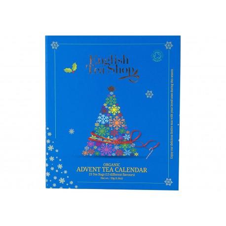 Συλλογή Χριστουγέννων   Organic Blue Advent Calendar - 25ct Pyramid   25 πυραμίδες.