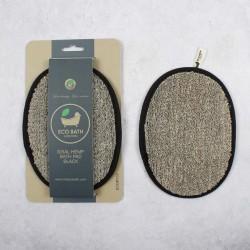Σφουγγάρι- δίσκος μπάνιου | Natural Sisal Hemp Bath Pad Black