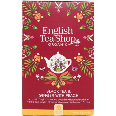 Οργανικό Μαύρο Τσάι με Τζίντζερ & Ροδάκινο | Ginger Peach Tea Org.
