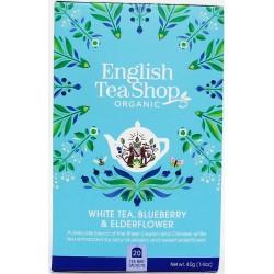 Λευκό Τσάι, Μύρτιλα & Σαμπούκο | Org. White Tea Blueberry and Elderflower | 20 φακ.