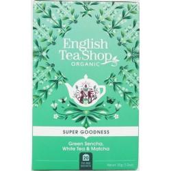 Σεντζά, Λευκό Τσάι & Μάτσα | Green Sencha, White Tea & Matcha | 20 Φακ.