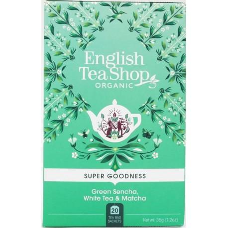 Βιολογικό Τσάι - Σεντζά, Λευκό Τσάι & Μάτσα   Green Sencha, White Tea & Matcha 20 Φακ.