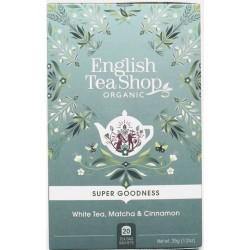 Λευκό Τσάι, Matcha & Κανέλα | Org. White Tea, Matcha & Cinnamon | 20 Φακ.