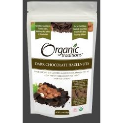 Οργανικά Φουντούκια καλυμμένα με Μαύρη Σοκολάτα | Organic Dark Chocolate Covered Hazelnuts | 100gr