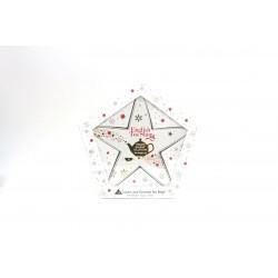 Συλλογή Χριστουγέννων | Org. Holiday Collection Organic Red & Gold Star |16 Φακελάκια