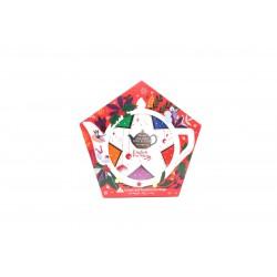 Συλλογή Χριστουγέννων | Org. Holiday Collection Organic Red & Silver Star |16 Φακελάκια