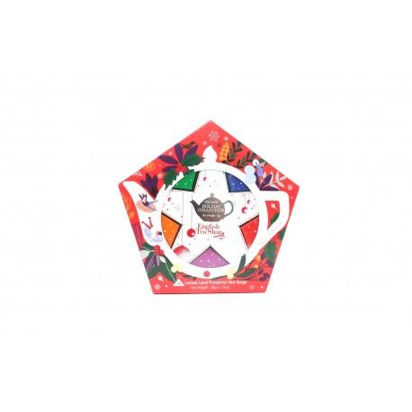 Συλλογή Χριστουγέννων | Org. Holiday Collection Organic Red & Silver Star |16 Φακελάκιαα