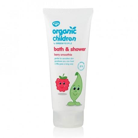 Παιδικό Αφροντούζ, Σμούθι Μούρων   Organic Children Bath & Shower - Berry Smoothie   200ml